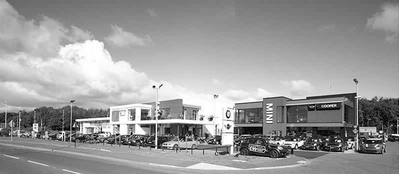 "BMW & Cooper Mini, Boldon <br><span style=""font-size:x-small;"">Refurbishment of this prestige automotive dealership</span>"