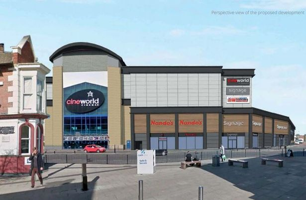 """Cineworld, Middlesbrough Leisure Park<br><span style=""""font-size:x-small;""""> Refurbishment and extension of this cinema</span>"""
