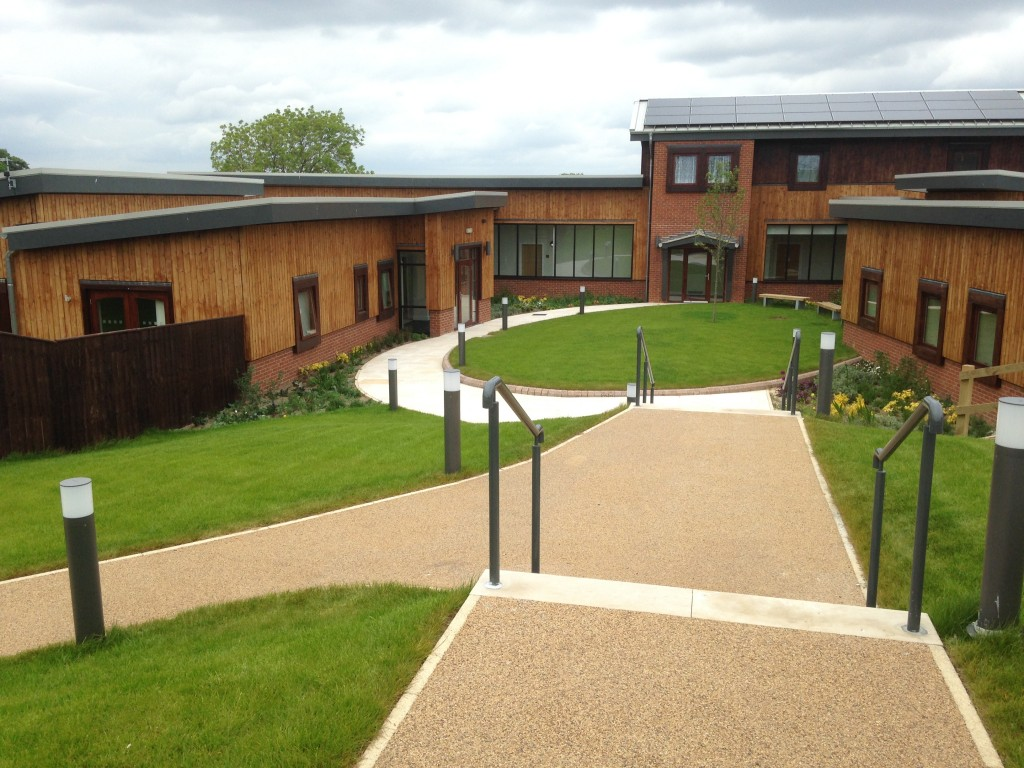 "Larchfield Community <br><span style=""font-size:x-small;"">new build residential care accommodation for people with learning difficulties</span>"