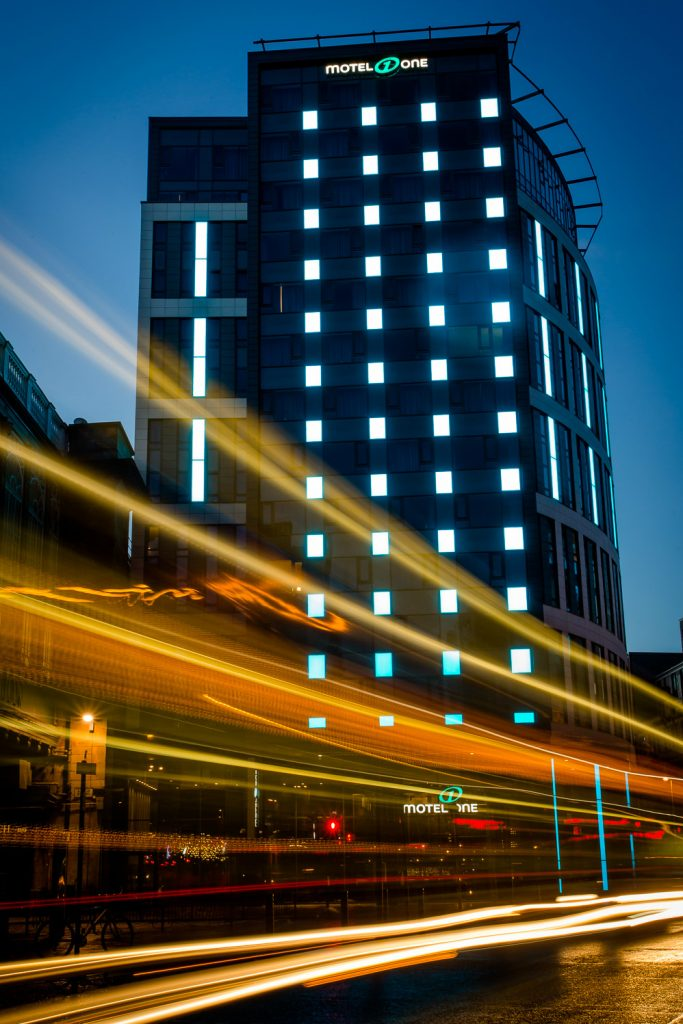 """Motel One, Oswald Street, Glasgow<br><span style=""""font-size:x-small;"""">Construction of 374 bedroom hotel</span>"""