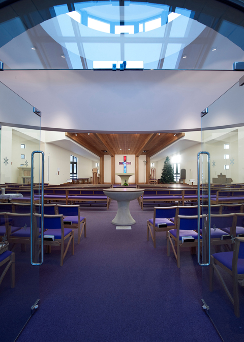 "St Paulinus Church, Guisborough <br><span style=""font-size:x-small;"">A very rare opportunity to design a new build church, the church has a mixture of worship and social spaces</span>"