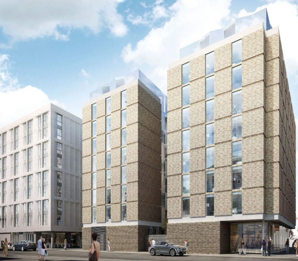 """Staycity, Mason Street, Manchester<br><span style=""""font-size:x-small;"""">Construction of 224 bedroom hotel</span>"""