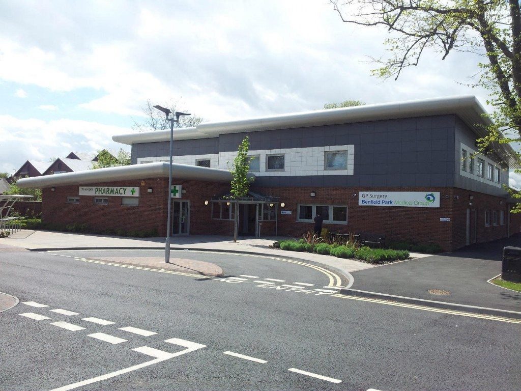 "Walkergate Health Centre, Newcastle <br><span style=""font-size:x-small;"">New super health centre achieving BREEAM excellent with renewable systems</span>"