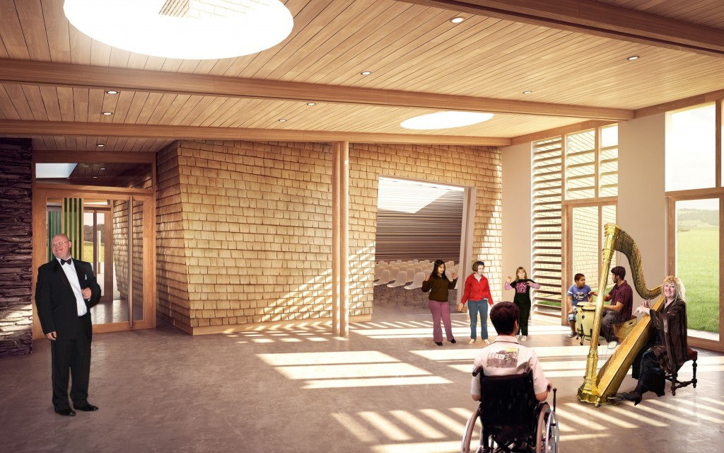 "Sunbeams Therapeutic <br> Music Trust <br><span style=""font-size:x-small;"">New music centre to help improve the health and wellbeing of children and adults with disabilities</span>"